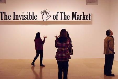 The Invisible Hand Of The Market, 2009_castillos En El Aire_museum Reina Sofía,  2012